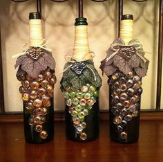 After all, wine comes from grapes. So it's only fair. Love how they used glass pieces for each of them.
