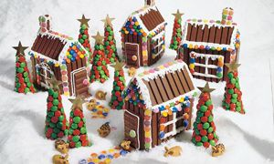 However, don't neglect to decorate it with icing and M&Ms. Now that's a town that's good enough to eat.