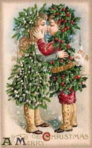 And it looks like these children are about to kiss each other in a romantic embrace which isn't age appropriate in the least. Seriously, if they wanted to do a card of holly and mistletoe making out why use kids? Couldn't they just use 2 adults instead?