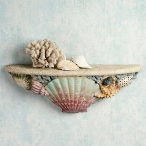 Yes, this another seashell shelf. But this one includes actual shells as decoration.
