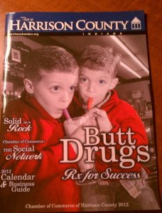 Actually Butt Drugs is a name of a drugstore there. Yet, the name is quite unfortunate so I include this cover.