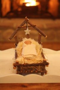 Well, to me as a Catholic, anyway. But to each his own. Still, this twig manger is so adorable.