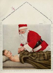 Okay, Santa, buying expensive gifts for women is one thing. Tucking a sleeping woman in a fur coat? Well, that's just goddamn creepy.