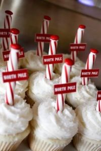 Okay, maybe not. But these North Pole cupcakes are certainly very simple to decorate.
