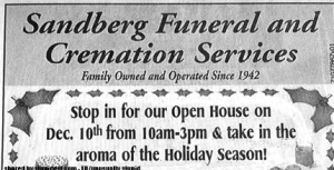 Because there's nothing that's in the spirit of Christmas than dwelling on the notion of your loved one's imminent mortality. Hope they have senior discounts because funerals are expensive.