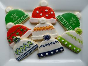 Like the Christmas sweater cookies, you can see these are decorated in a wide array of styles. Not sure which one I like the best.