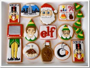 Yes, they have cookies relating to Elf. Sure they're professionally made. But I had to show these.