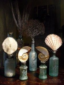 Yes, this is a beach bottle assortment to remind you of the ocean. Love the shells on these.