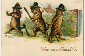 Because nothing says Christmas like seeing cats in tall hats armed with clubs. Don't like how this is going down.
