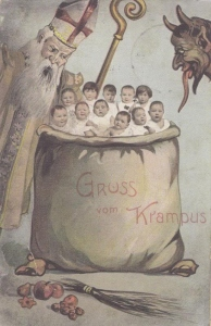 "Even St. Nick is like, ""Jesus, Krampus, you're supposed to kidnap spoiled brats! Those are fucking babies! Not cool."""