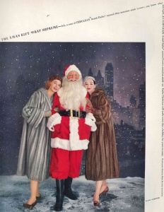 Santa, I don't think Mrs. Claus will approve of you being between these two lovely women. Please, I don't know how she puts up with you being such a perv.