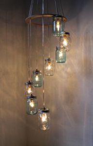 Yes, it's another jar chandelier. But this one is in a different configuration than the one I saw earlier.