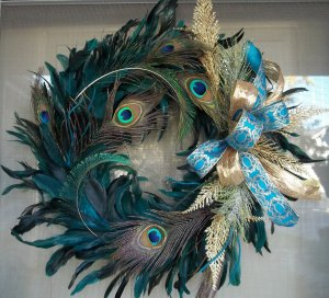 This one is so stunning with the blue and gold bow. Love it.