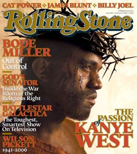Now, Rolling Stone, you don't have to make your cover in a way that Kanye West sees himself. Seriously, we don't need to feed into his enormous ego.