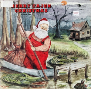 Uh, doesn't Santa have a sleigh that he doesn't need to row among gators? Or creepy banjo players? Seriously, he has a flying reindeer pulled sleigh for God's sake!