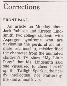 Apparently, a My Little Pony fan got upset enough to complain about it. Why? I have no idea.