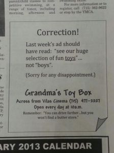 "Love how they said, ""Sorry for any disappointment."" Never underestimate how typos can really screw things up."