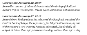 Yeah, less than 250,000 barrels a day seems more like it than less than 250 a day. No wonder Libya is so messed up.