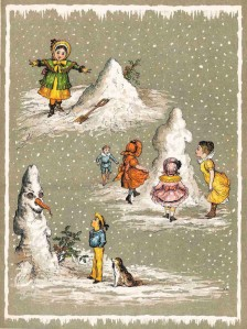 Of course, in Victorian times, building a snowman with your friends was one way you could freak out the neighbors. Olaf from Frozen it ain't.