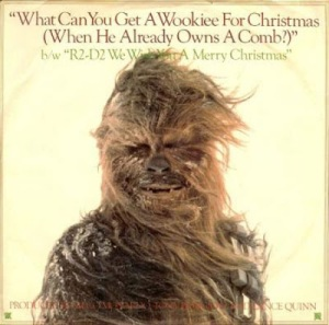 Yes, they did songs like these back in the day. They even had a Star Wars Christmas special. Still, this cover of Chewbacca is hilarious.