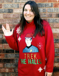 This one has Spock on it in a Santa hat. Not sure if Spock would find it highly illogical.