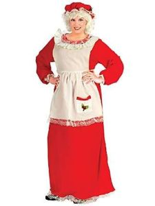 Of course, this is a traditional Mrs. Claus outfit. Yes, it looks homey but what the hell.