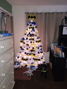 This one has the bat symbol all over it. I'm sure someone would want to do this for the holidays.