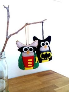 Sure a bat and a robin would've been more appropriate. But even I have to concede that these are adorable.