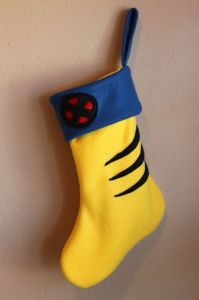 I wonder if Hugh Jackman has a stocking like this at his fireplace. I wouldn't be surprised.