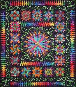 And does this sure dazzle. No, you're not on drugs. But I really love this pattern.