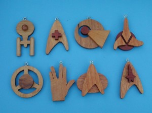 Each of these feature stuff pertaining to Star Trek like the Enterprise and the Vulcan hand sing. Made by someone with possibly too much time on their hands.