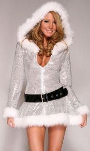 Kind of reminds you of something Mariah Carey would wear in a music video. Also seems to contain a lot of sequins.