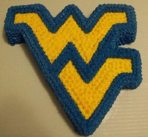 Yes, a cake of the WVU logo itself. Great for any couch burning party.