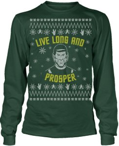 After all, it's the most logical thing to say to your friends and family during the Christmas season. And Mr. Spock ought to know.