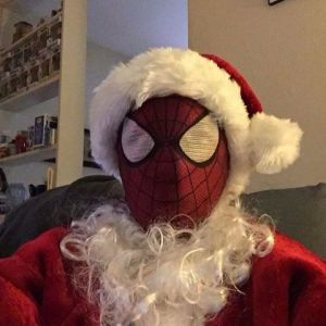 Now that's clever. Yeah, Spidey Claus isn't the kind of Santa you should mess with. If you don't want to be in a sticky bind afterwards.