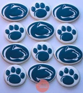 Well, these have the Penn State logo and a paw print. But say what you want about Penn State, but at least they go with an original big cat mascot like the Nittany Lion. Even if it is another euphemism for cougar.