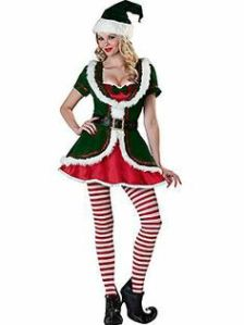 I showed the male counterpart of this costume last year. I know it looks pretty dumb but it's Christmas related. So it goes on the post.