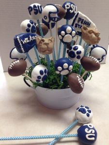 These include the Penn State flag, a football, pawprints, and the Nittany Lion head. All in all, great for the Happy Valley.