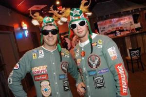 Like how these guys are dressed as race car drivers. Not that I'm a fan of NASCAR (I'm not).