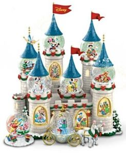 I suppose this doesn't come cheap. Also includes a Cinderella snow globe coach.