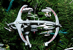 Yes, they have an ornament of DS9. Kind of wish they had more of the characters besides Worf and Sisko. Besides, Quark would see Christmas as a great opportunity for profit.