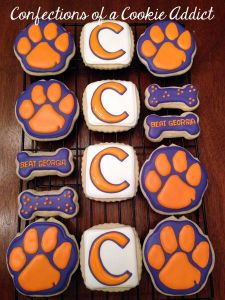 These consist of the C, paw prints, and bones. Yes, I know their mascot's a tiger but that's beside the point. Since Pitt beat them this year.