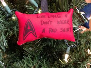 Because if you watched the original series, you should know what happens to Starfleet personnel wearing red who get beamed down to the planet. And no, I'm not including Scotty or Uhura.