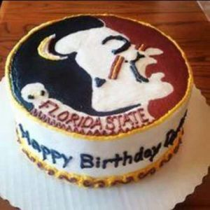 This is for a birthday. But the logo is a perfect picture. I'm sure whoever gets this cake will love it.