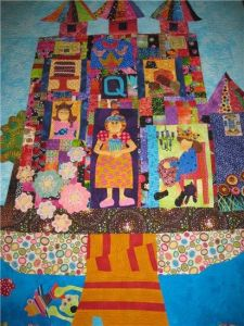 Well, this is certainly a quilter's castle here. So stunning and so lovely.
