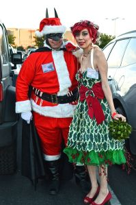 As you know, Batman Claus gives presents to all the girls and boys. And he beats the shit out of those who are very bad like the Joker.