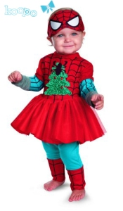 This one even features a Christmas tree as well as green sleeves and tights. So cute.