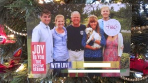 I'm sure holiday season breakups happen all the time. Still, I think it's funny they put a sticker on the woman's face.