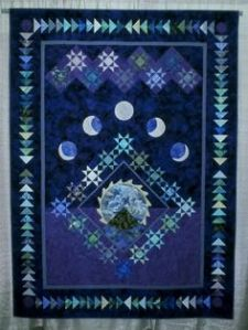 Well, this one surely has the moon phases and the dark sky. Love the snowflake stars.