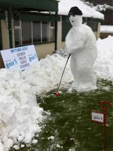 Now I'm no fan of golf and I'm sure this guy was made for a country club. But I do find this display amusing.